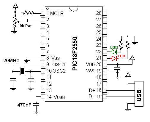 18f4550 usb proto board