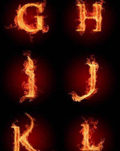 Fire Letters Wallpapers HD 3000 X 3000(G-L)