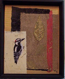 wood pecker painting