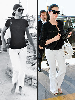 Anne Hathaway Wearing The Jackie O