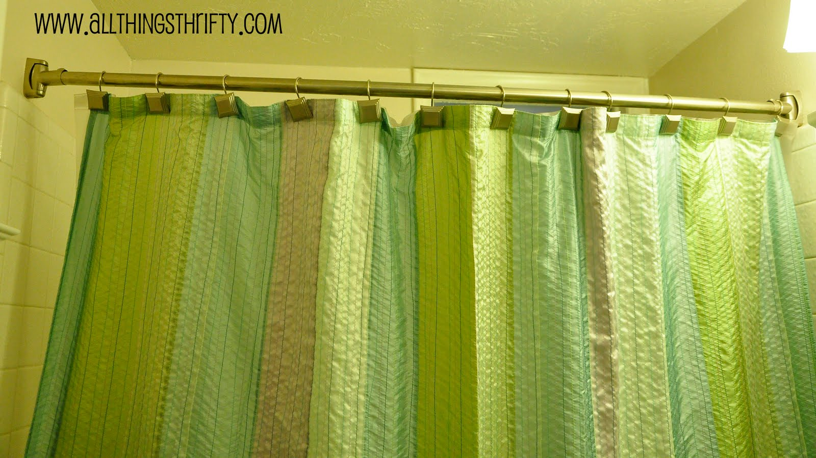 Curved Shower Curtains Rods Curved Shower Curtain Rod All Things Thrifty