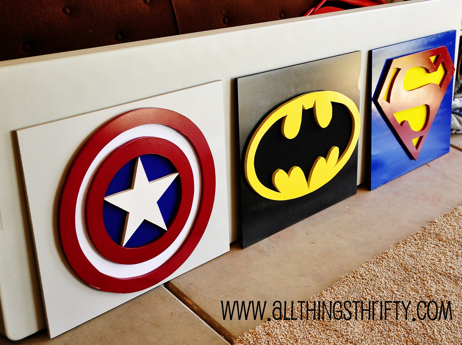 Captain America Wall Art, Part three of Bensons Room!