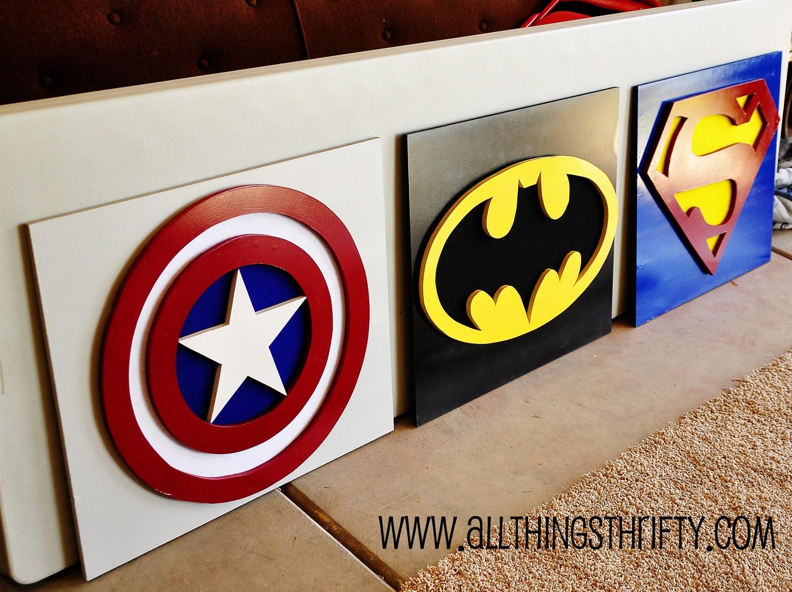 Captain America Wall Art, Part three of Bensons Room!