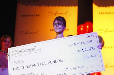 Sarah Palin look alike stripper contest photos