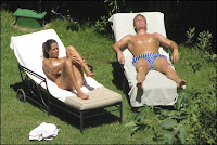 Ana Ivanovic applies sunscreen whilst enjoying her holidays in her bikinis