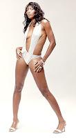 Venus Williams photo shoot in white swimsuit
