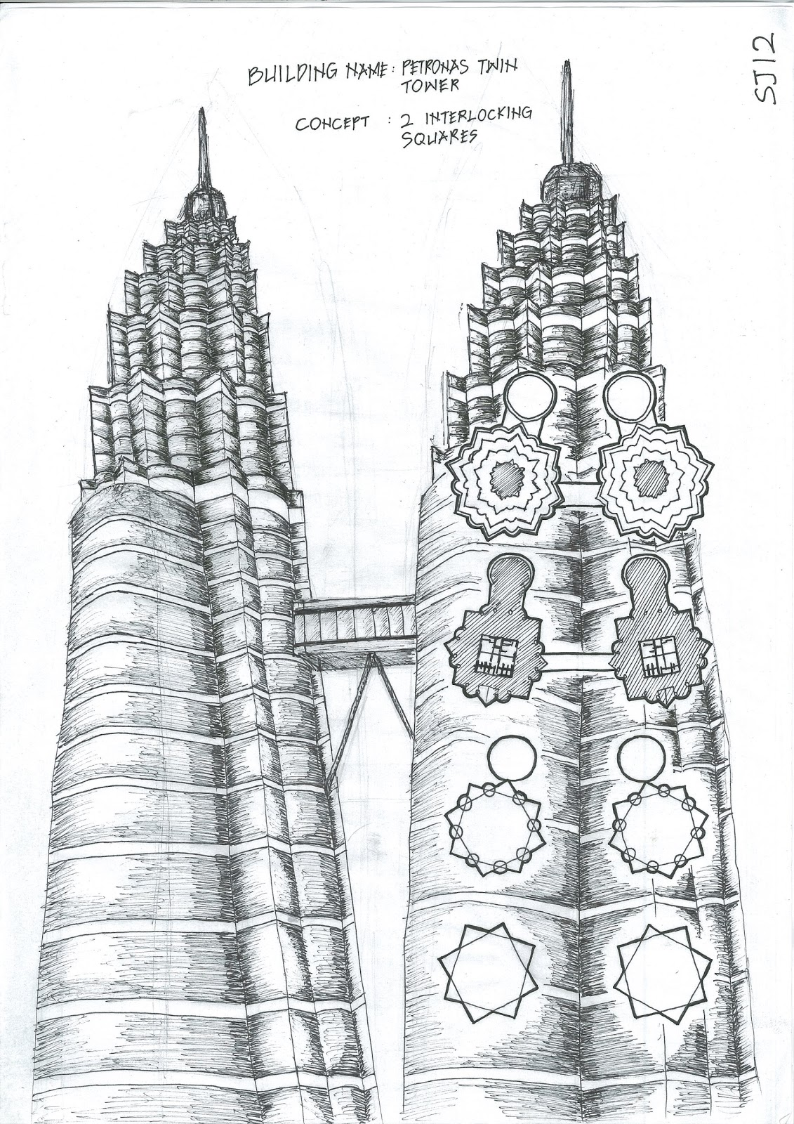 Burj Khalifa Sketch Templates