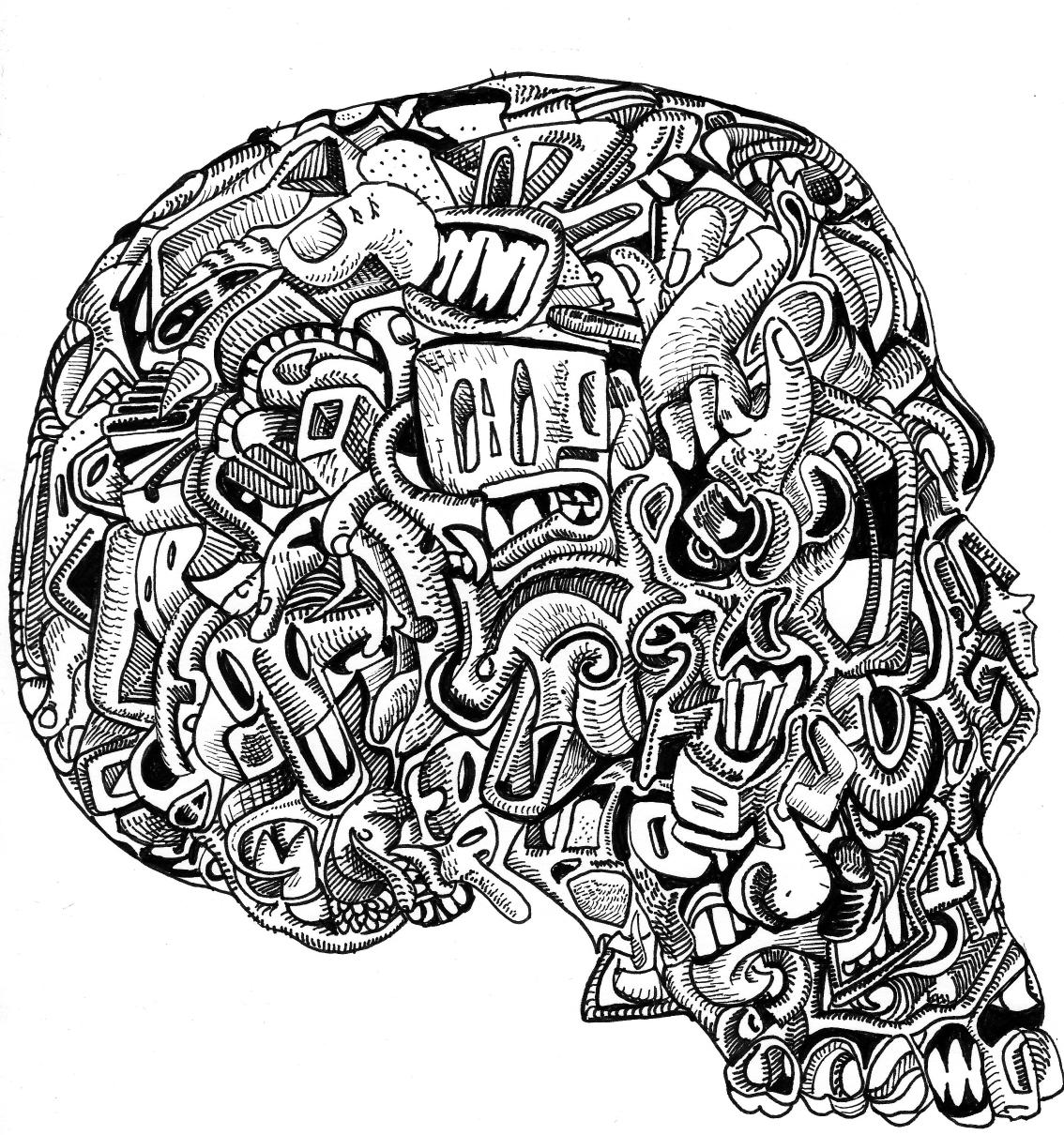 JACK COLTMAN (artist): Super Secret Skull Drawing