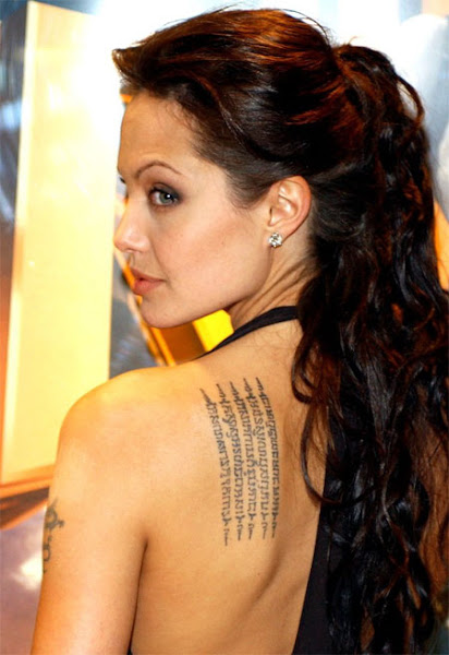 Celebrity World 2011: Celebrities With Tattoos - Angelina ...
