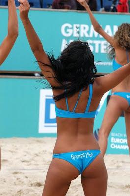 Beach volleyball sand bikini agree with