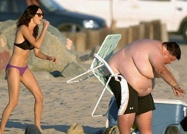 Beach Chair Walmart Ergonomic Kolkata Fat Guy On A Fail ~ Damn Cool Pictures
