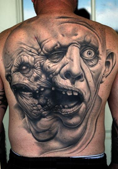 tattoos amazing tattoo crazy ever face cool awesome coolest 3d tatoo scary realistic tats faces designs faced tatto head artwork