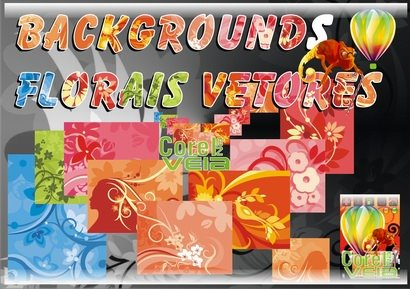 Backgrounds Florais Vetorizados x3 x4