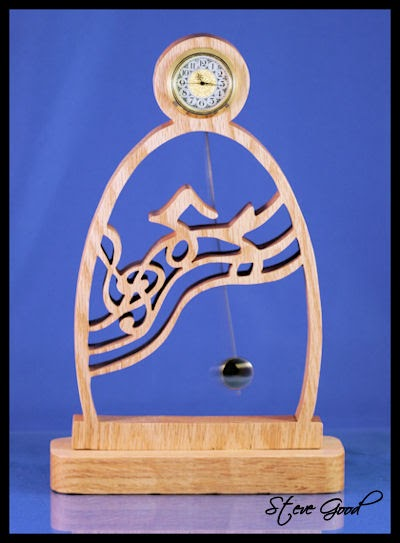 Scrollsaw Workshop Music Clock With Pendulum Scroll Saw