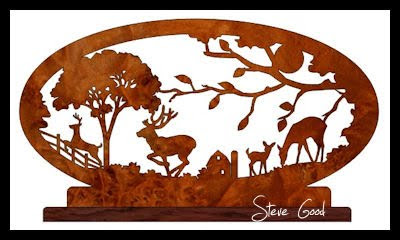 picture relating to Free Printable Scroll Saw Patterns named Scrollsaw Workshop: Deer Scene Scroll Observed Routine.