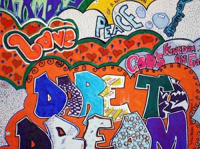 peace bubble letters