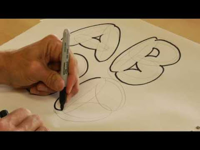 bubble letters draw drawing lettering creative alphabet printable pencil fancy lessons drawings graffiti styles outline trace straight bubbles sketch fonts