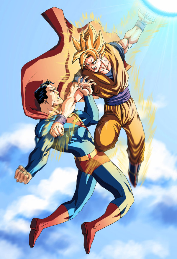 Goku and Superman vs Archie Sonic