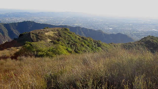 Looking south toward Azusa from Summit 2843