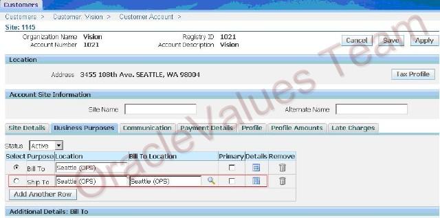 Oracle Values: Setup Internal Order Process