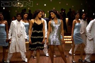 Don leading ladies Isha Koppikar and Priyanka Chopra groove to 'Aaj Ki Raat.'