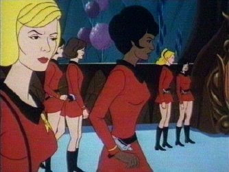 Lt. Uhura, holdin' it down as landing party leader.