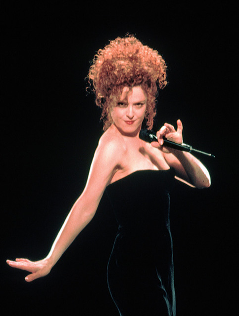 In a far more interesting universe, Bernadette Peters killed as Breathless Mahoney in the big-budget movie version of Dick Tracy.