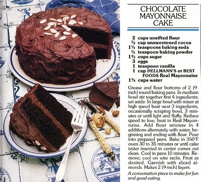 Dying for Chocolate Chocolate Mayonnaise Cake 3 Easy Recipes