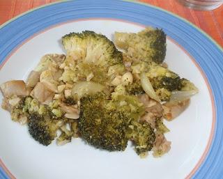 brécol o brócoli con setas