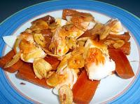 zanahorias con huevos y refrito