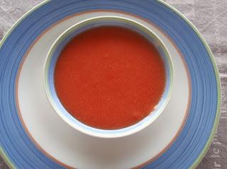 gazpacho de sandía y tomates