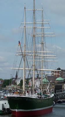 Rickmer Rickmers, Segelschiff, Hamburg Hafen