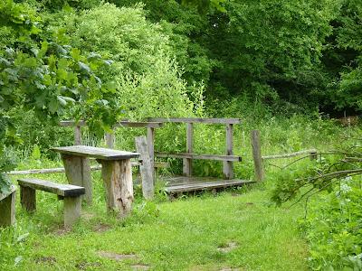 Duvenstedter Brook, Hamburg, Naturschutzgebiet, Rastplatz, Parkbank