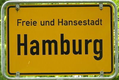 Ortsschild von Hamburg, Ortseingangsschild Hamburg