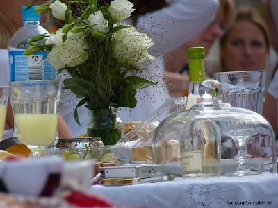 Dinner in Weiss Hamburg, weißes dinner, dinner en blanc
