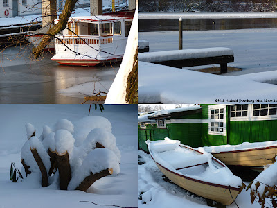 Winter in Hamburg, eine Fotocollage, Kollage