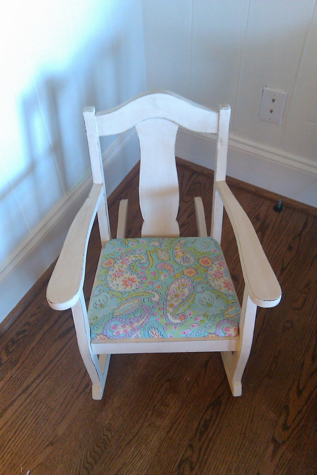 Girls Rocking Chair Farm Chick Paints Little Girls Rocking Chair
