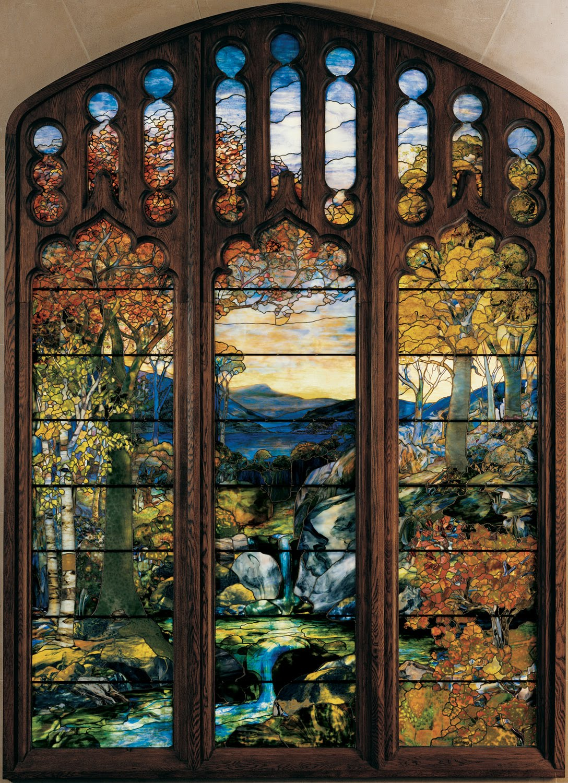 Matin Lumineux Vitraux Art Nouveau