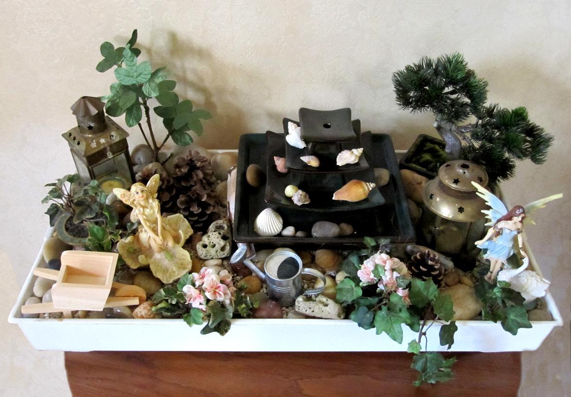 Mini Jardin Japonais En Pot   Pot De Jardin En Ardoise Cube Naturel ...