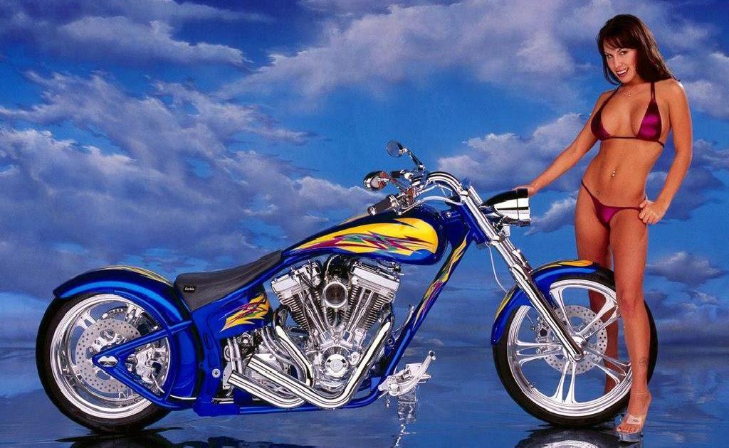 Hot Girl Harley motor custom  motor modif contest  trend