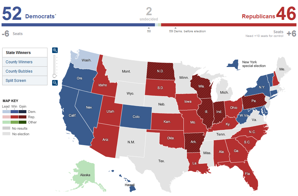 Location Intelligence And The Semantic World Us Election Results Map - Election-results-map-of-us