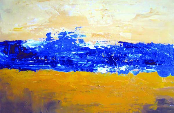 31c92d5f4d9 Original Contemporary Abstract Landscape Painting by Illinois Artist