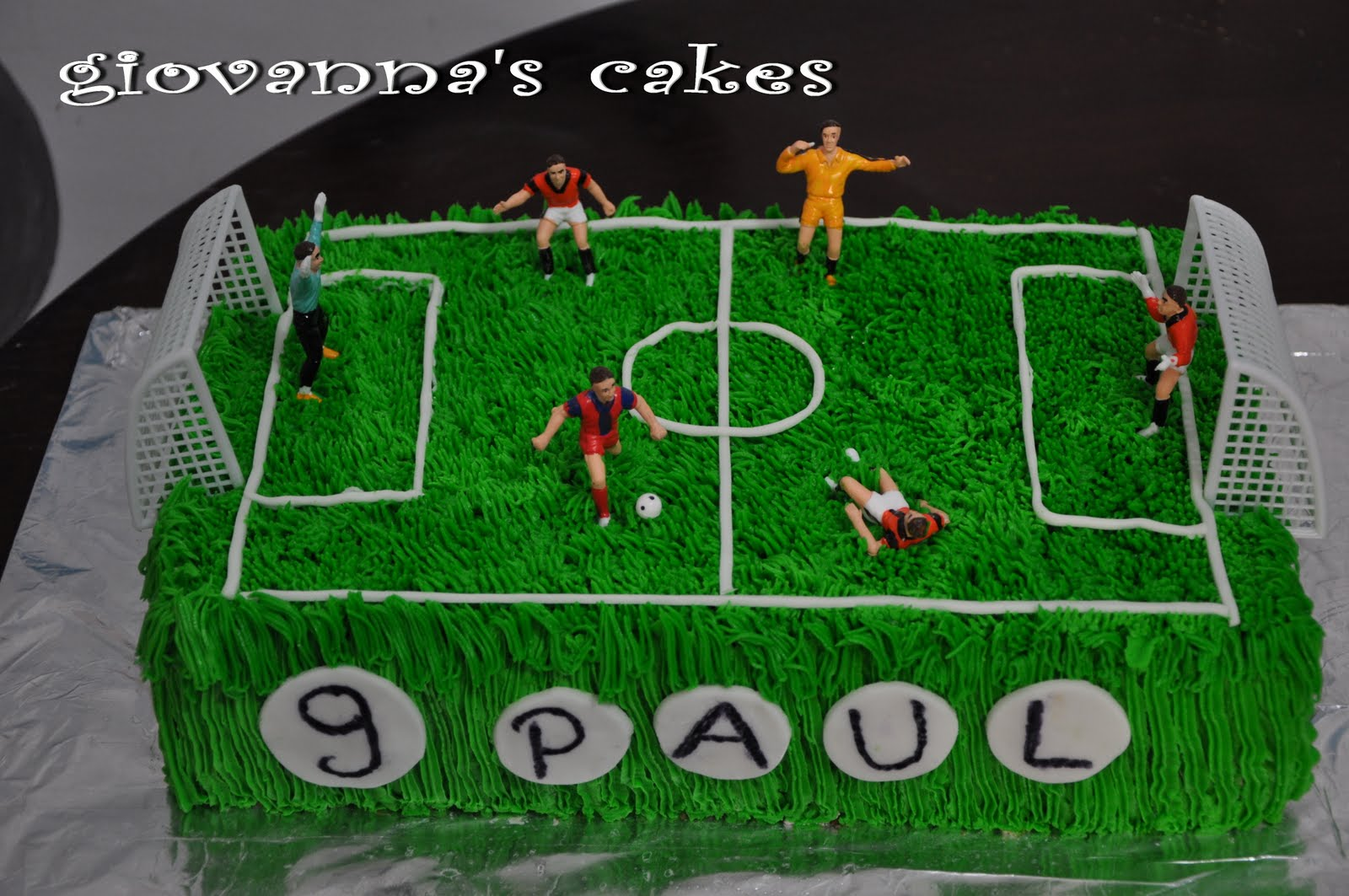 Decorating A Football Field Cake