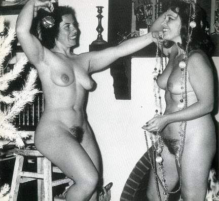 Vintage nude christmas girls consider
