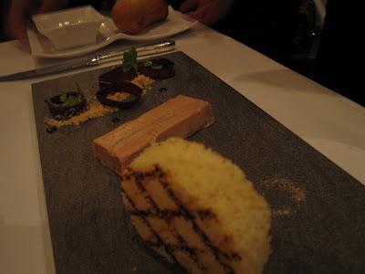 Saint Pierre, foie gras terrine