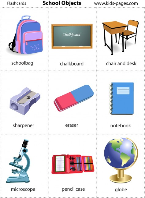 a new way to learn english school objects