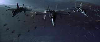 Fuerzas aliadas terrestres a punto de enfrentarse con las naves invasores extraterrestres. Imágen extraída de la película «Independence Day»