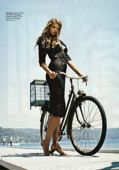 Bicycle and Girl by WOW Barbie