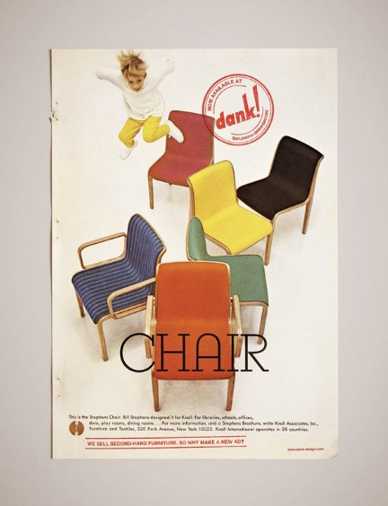 Retro Adv For Second-hand Furniture