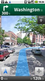 3D street view @ Google Maps Mobile beta
